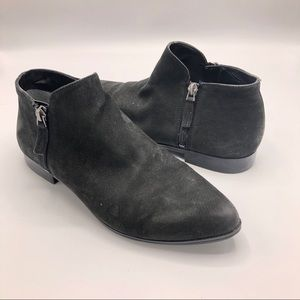 Franco Sarto Kingston Black Booties Ankle Leather